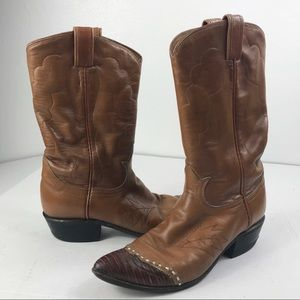 Tony Lama Cowboy Western Two Toned Boots 6…